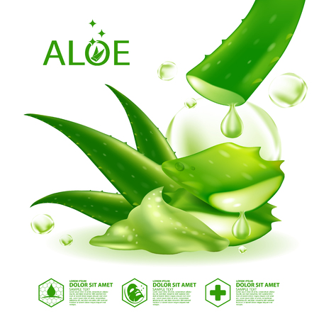 Aloe Vera collagen Serum Skin Care Cosmetic. 스톡 콘텐츠 - 101925140
