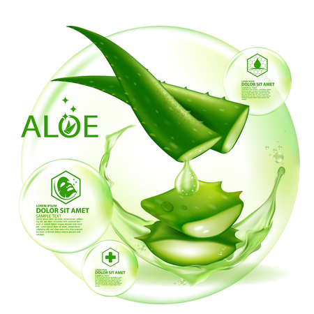 Aloe Vera collagen Serum Skin Care Cosmetic. 스톡 콘텐츠 - 101963097