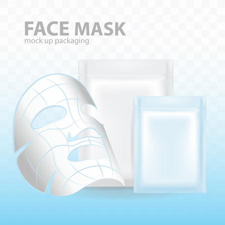 Face Mask mock up packaging vector illustration