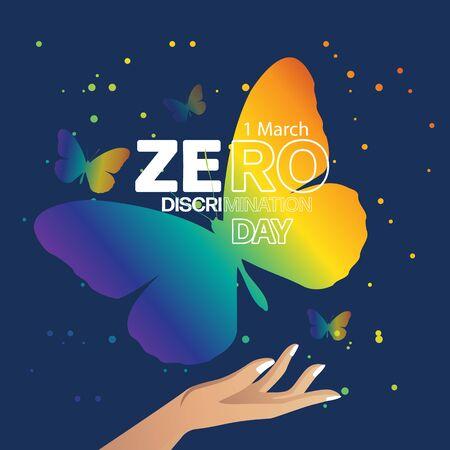 zero discrimination day. poster ,logo, template design