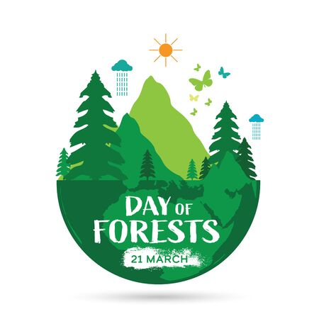 International Day of Forests Logo design template