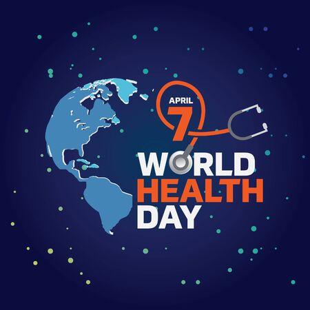 World Health Day Logo design template