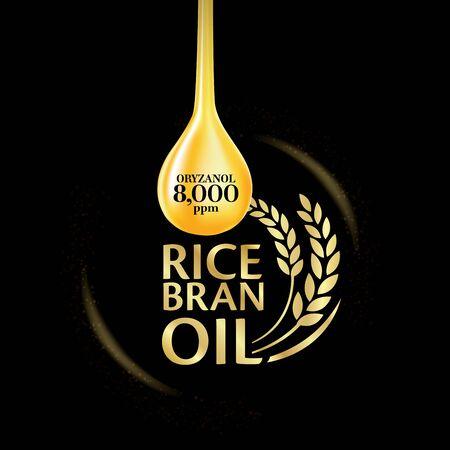 Rice bran oil. Vector illustration. Ilustracje wektorowe