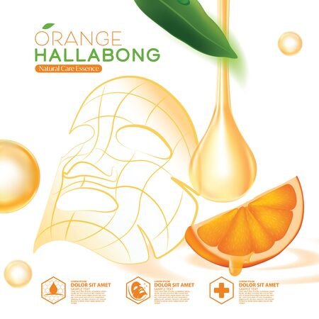 Jeju Island Orange Hallabong Vitamin Serum Moisture Skin Care Cosmetic.