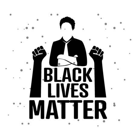 Black Lives Matter concept logo vector Illustration
