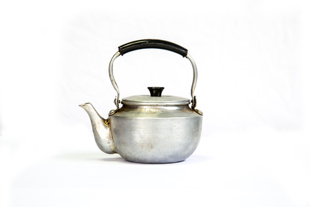 boil water: Small old kettle to boil water.