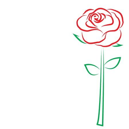 バレンタインの s 日テンプレート グリーティング カード。花はバラ。バレンタインの日カード。: ベクトル Eps 10