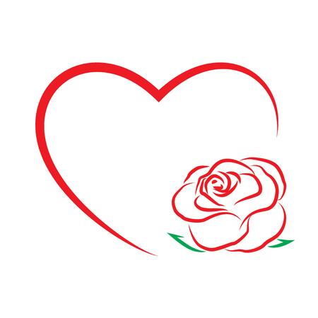 バレンタインの s 日テンプレート グリーティング カード。花と心。バレンタインの日カード。: ベクトル Eps 10