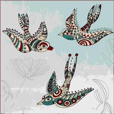 golondrinas: Golondrinas en estilo �tnico
