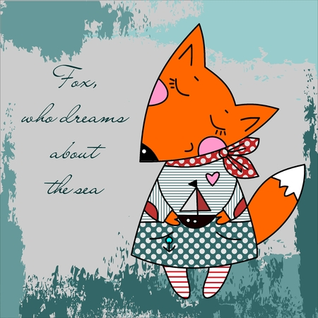 anthropomorphism: Fox, who dreams about the sea