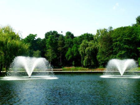 waterleiding: Waterwerken in het Lake