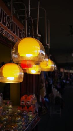 illuminated: illuminated indoors night Stock Photo