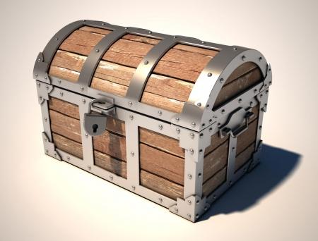 closed treasure chest photo