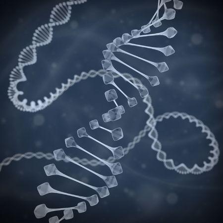 DNA 3d illustration Stock Illustration - 7573682