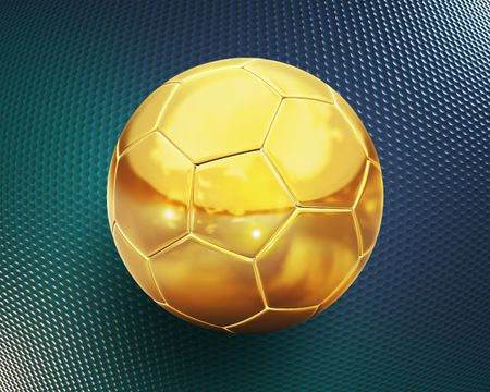 golden football 3d illustration illustration