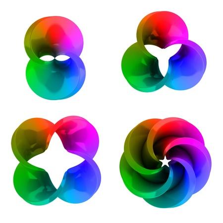 set of abstract three Stock Photo - 12330597