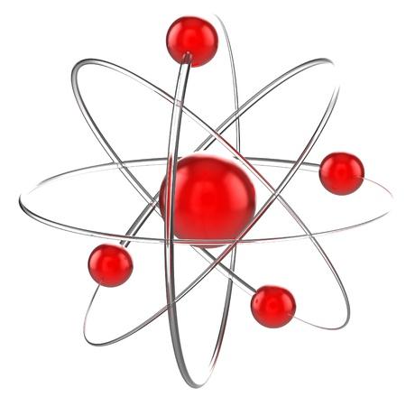 atom 3d illustration illustration