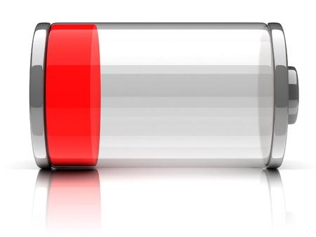 bateria: batería vacía 3d icono