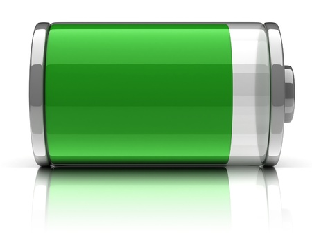 cell charger: full battery 3d icon  Stock Photo