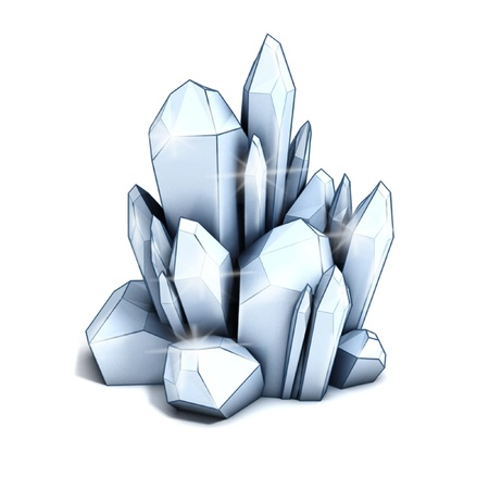 crystal 3d illustration  illustration
