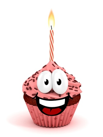 buttercream: funny cartoon like cupcake 3d rendering