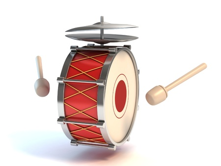 bass drum instrument 3d illustration  illustration