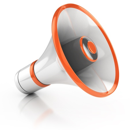 megaphone isolated on white background 3d illustration  illustration
