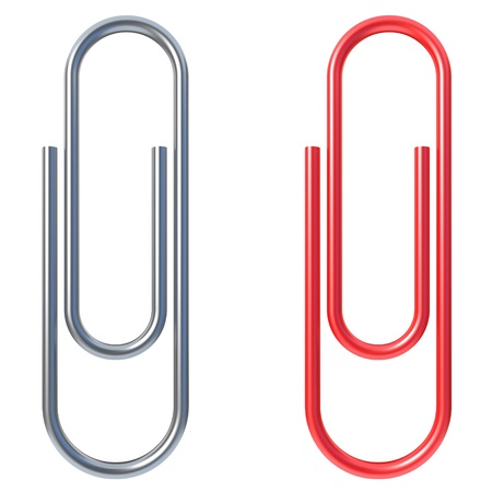 paper clip isolated over white background  photo