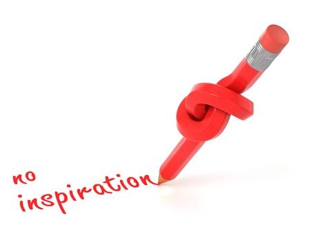 stagnate: no inspiration 3d concept  Stock Photo