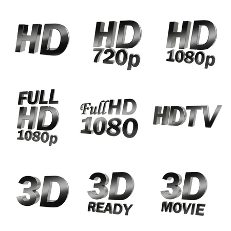 tv screen: high defenition 3d tv Stock Photo