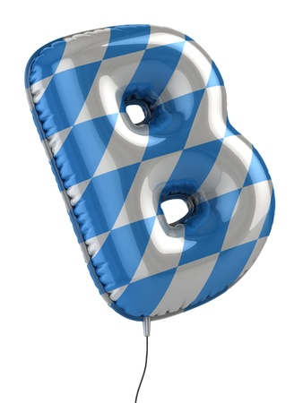 helium: letter B balloon 3d illustration
