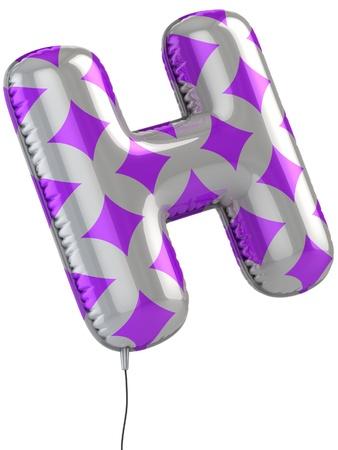 lettre alphabet: lettre H ballon 3d illustration Banque d'images