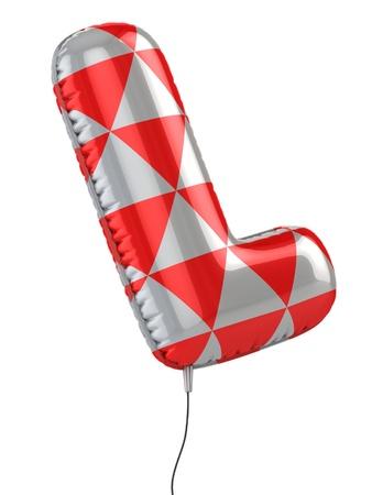 l: letter L balloon 3d illustration  Stock Photo