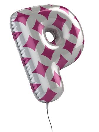 letter p: letter P balloon 3d illustration