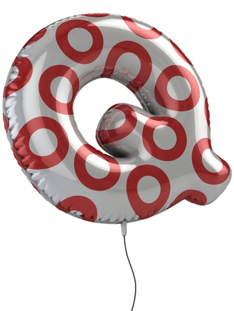 letter q: letter Q balloon 3d illustration