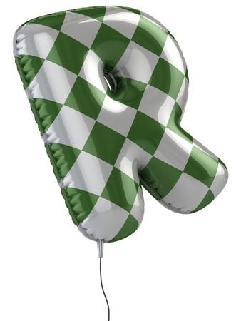 letter R: letter R balloon 3d illustration