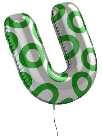 letter U balloon 3d illustration Stock Illustration - 12330711