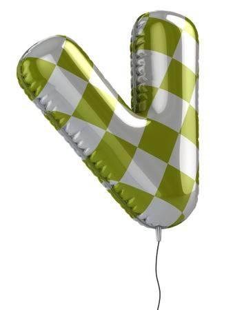letter v: letter V balloon 3d illustration