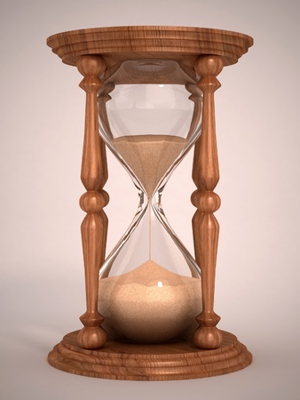 sand timer: hourglass, sandglass, sand timer, sand clock  3d illustration  Stock Photo