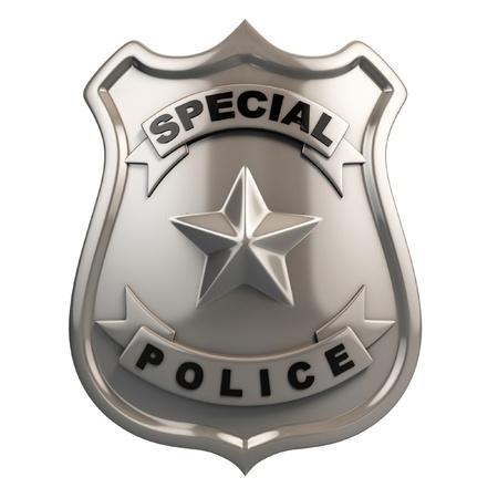 sheriff badge: placa de polic�a aislados Foto de archivo