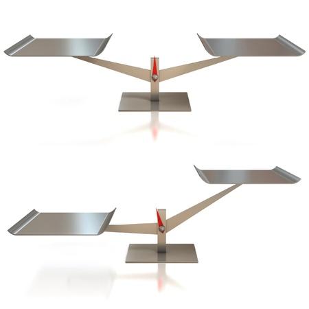 balanza en equilibrio: equilibrar la escala