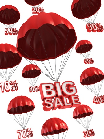 sellout: big sale - discount 3d concept  Stock Photo