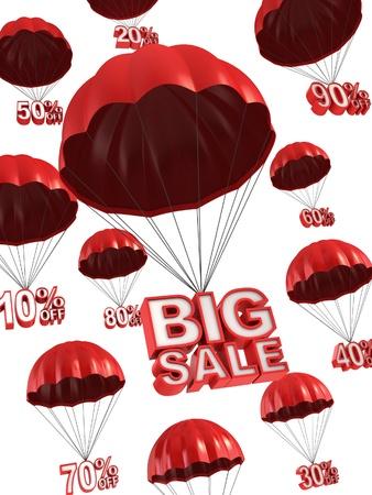 spadochron: duży sprzedaż - koncepcja 3d rabat Zdjęcie Seryjne