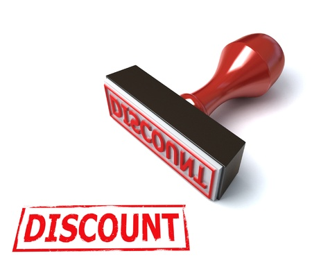 3d stamp discount  Stock Photo - 12330773