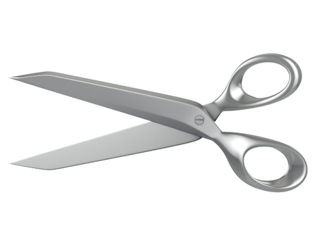 stainless steel kitchen: scissors isolated Stock Photo