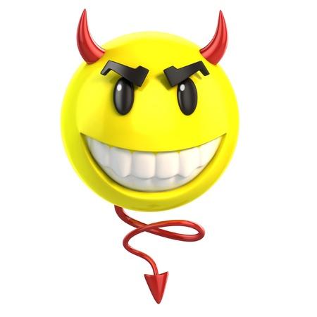 смайлик дьявол Фото со стока