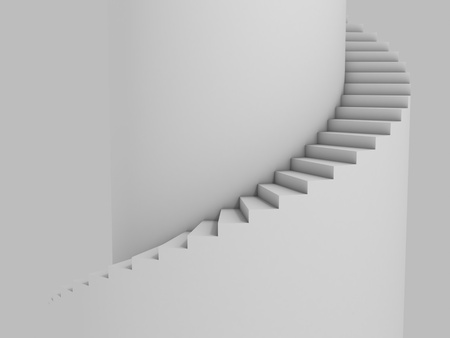 step up: spiral stairway as background 3d illustration  Stock Photo