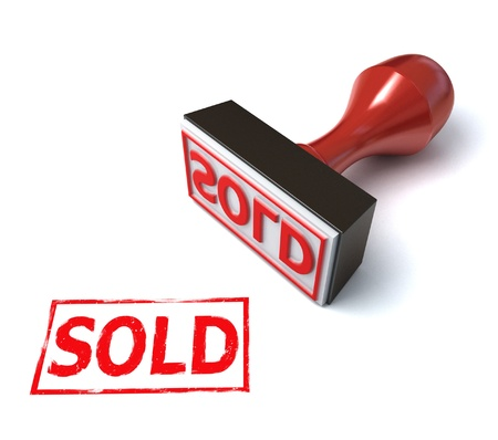 stamp sold  Stock Photo - 12330771