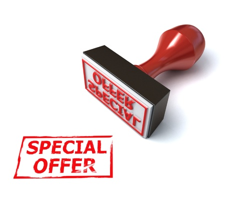 3d stamp special offer  Stock Photo - 12330772