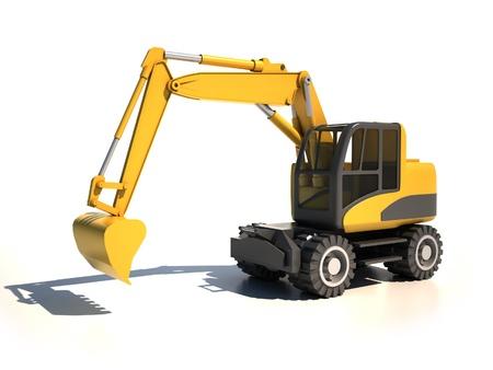 3d excavator  photo